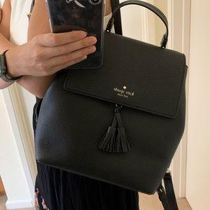 KATE SPADE MEDIUM BACKPACK HAYES BLACK WARM